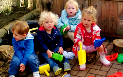 Cambrige Grandscapes donates toys for Clarence House Godmanchester Nursery