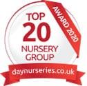 Top 20 mid-size nursery group award by Daynurseries.co.uk